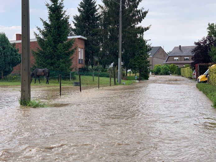 La commune de Meise, au nord de Bruxelles dans le Brabant flamand, a été touchée mercredi par des inondations à la suite de précipitations importantes.