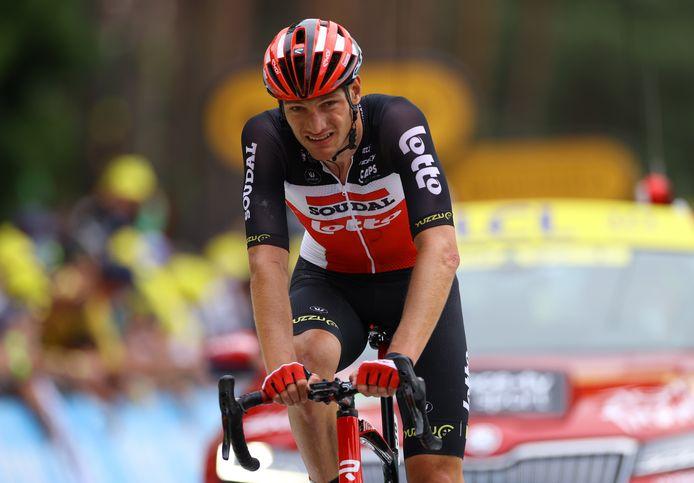 Brent Van Moer liet zich al opmerken tijdens de Tour de France.