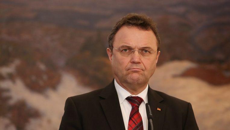 De Duitse federale minister van Binnenlandse Zaken Hans-Peter Friedrich. Beeld EPA