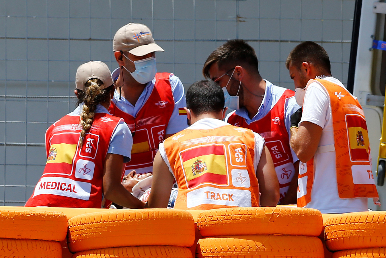 Marc Marquez liep bij een crash een gecompliceerde armbreuk op.