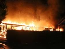 Chalet brandt volledig uit op camping Parcival in Schaijk