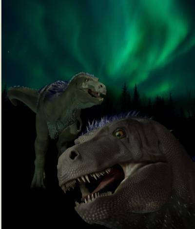 Artist's impression van de Nanuqsaurus hoglundi.