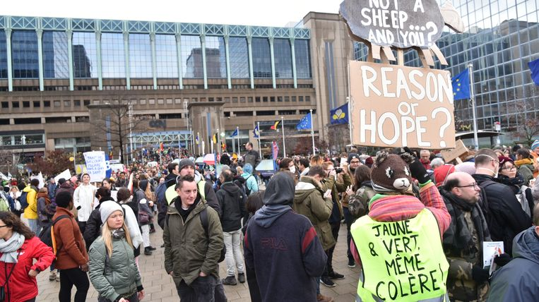 Vorige week namen 75.000 mensen deel aan de klimaatmars in Brussel.