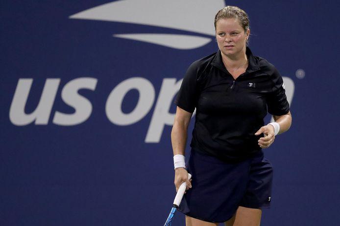 Kim Clijsters in september op de US Open, haar laatste toernooi.