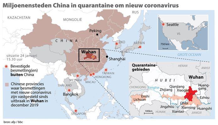 Miljoenensteden China in quarantaine om nieuw coronavirus.
