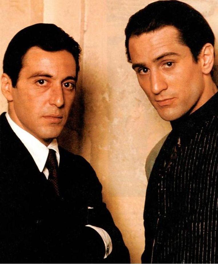 Al Pacino en Robert De Niro in 1974 in 'The Godfather: Part II'. Beeld Kos