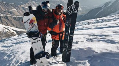 Seppe Smits snowboardt vanaf een hoogte van 6.500 meter naar beneden