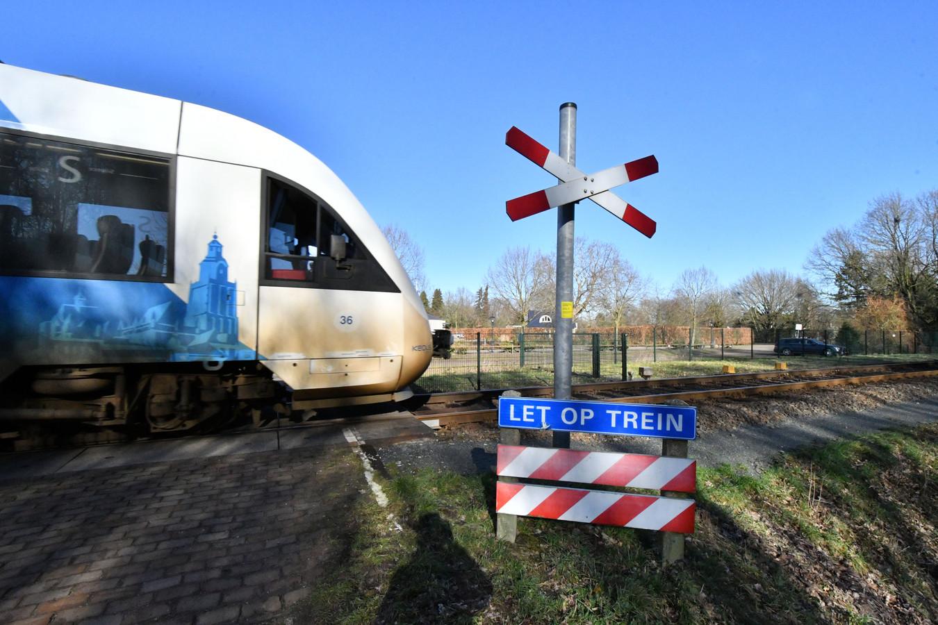 Onbewaakte spoorwegovergang Waterhoeksweg/Heijinksweg in Goor