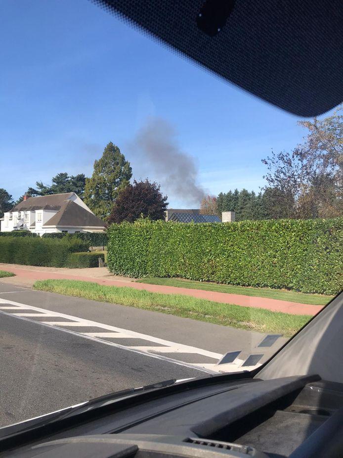 De brand in Turnhout was van ver zichtbaar.