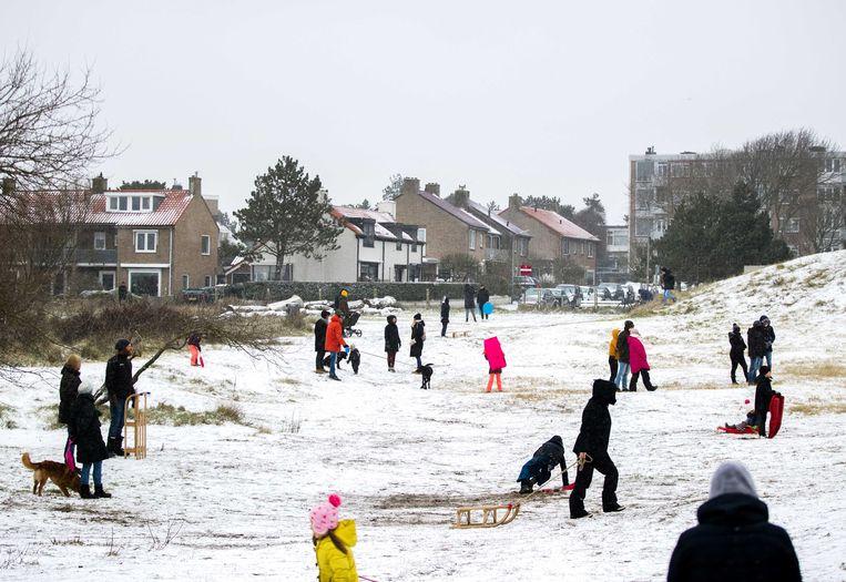Sneeuw in Zandvoort Beeld ANP