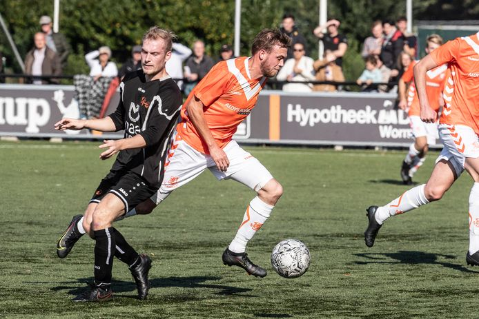 Thom Berendsen scoorde tweemaal tegen Moerse Boys.