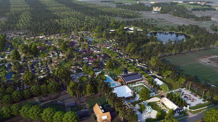 Het nieuw aangelegde EuroParcs Resort in Kaatsheuvel.