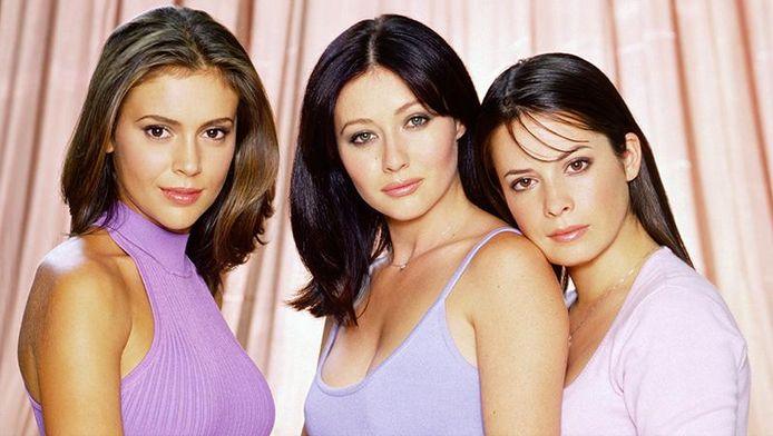 De cast van de originele reeks: Alyssa Milano, Shannen Doherty en Holly Marie Combs.