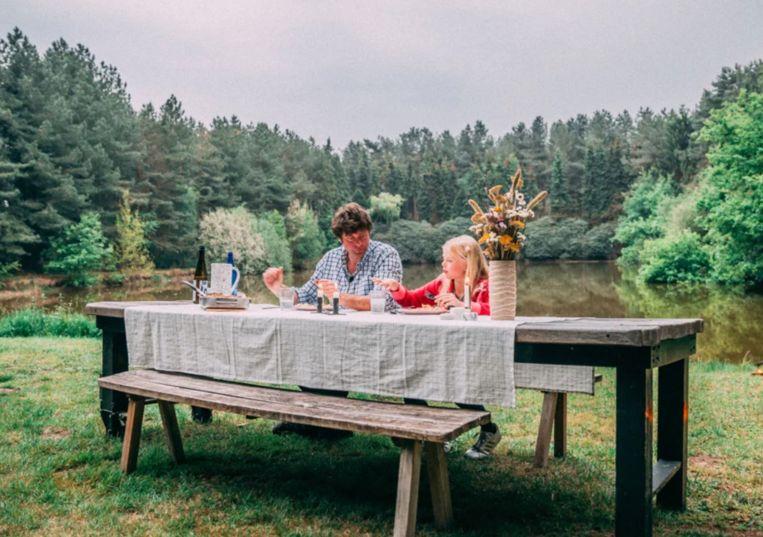 Wim en zijn dochter.