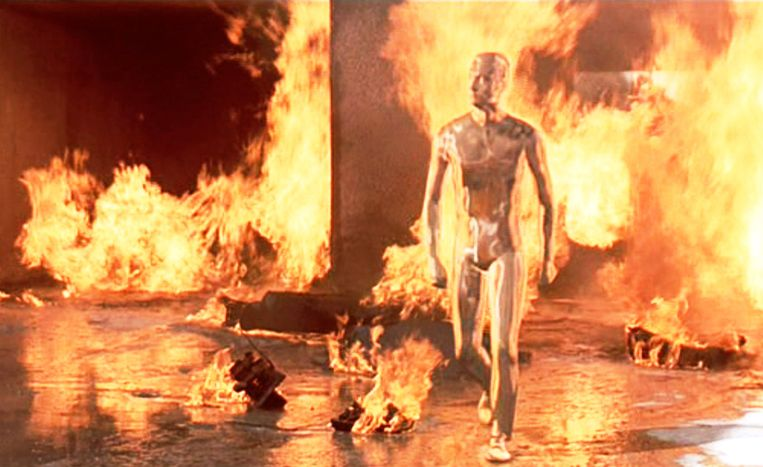 T-1000 in Terminator 2: Judgment Day. Beeld Getty