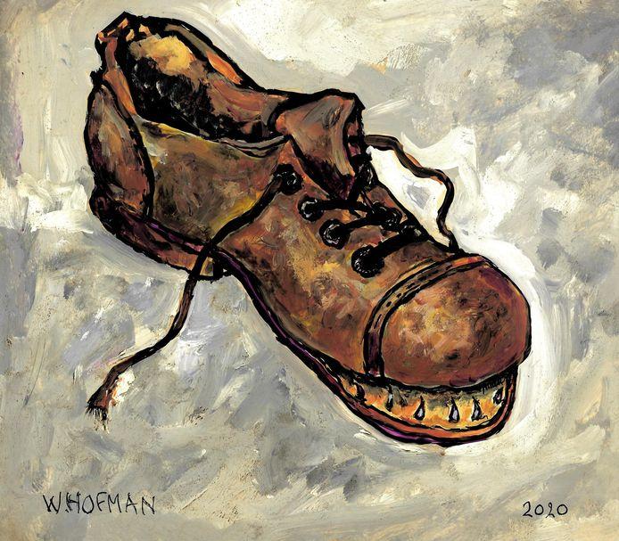 Wim Hofman illustratie bij rubriek Schoen