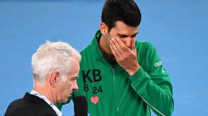 """""""Mijn mentor, mijn vriend"""": emotionele Djokovic eert Bryant met overwinning op Australian Open"""
