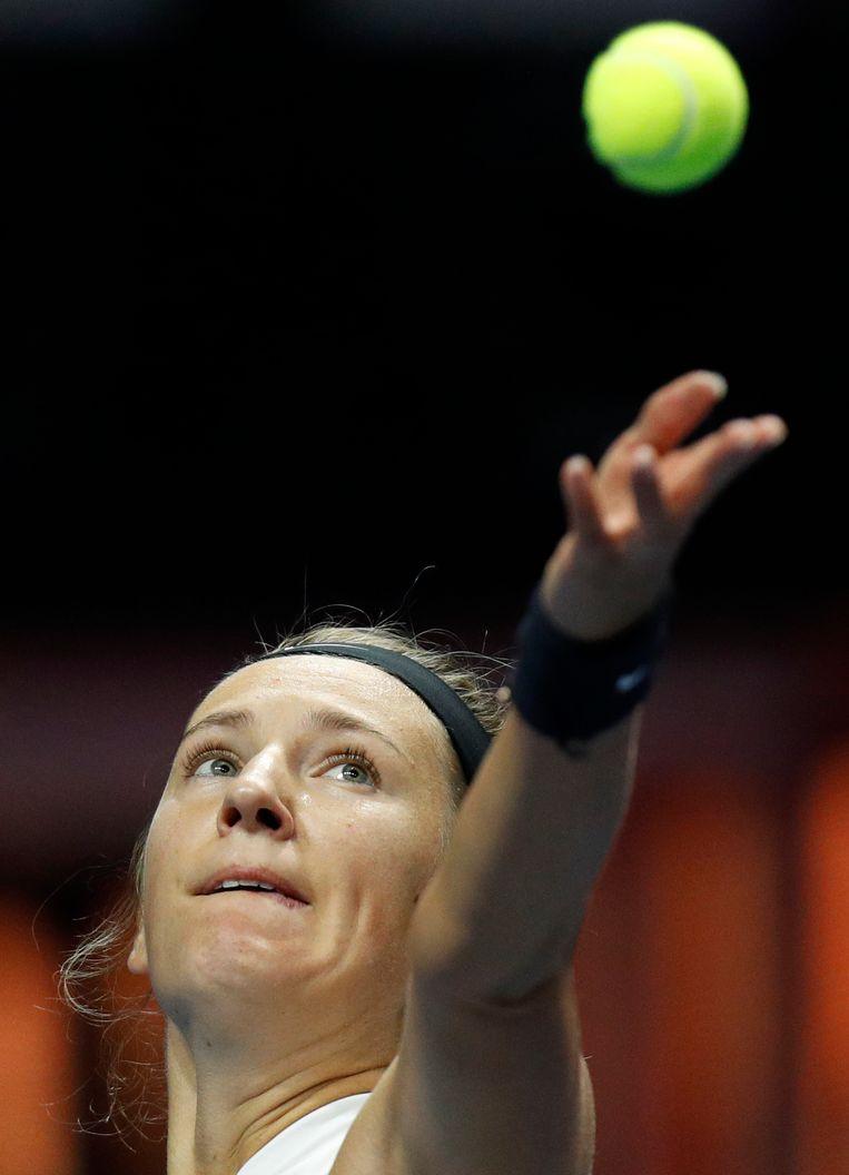 Beeldje van tennisspeelster Victoria Azarenka.