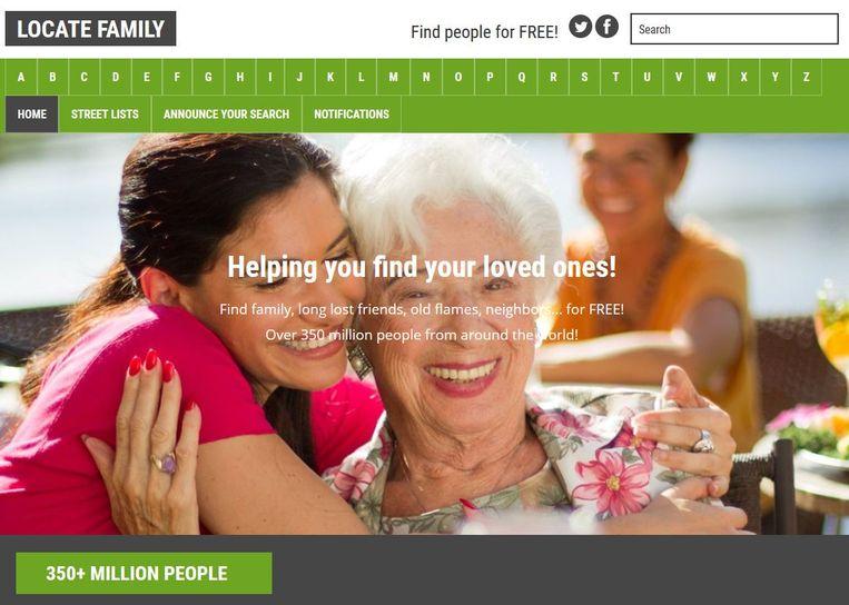 Locatefamily.com Beeld