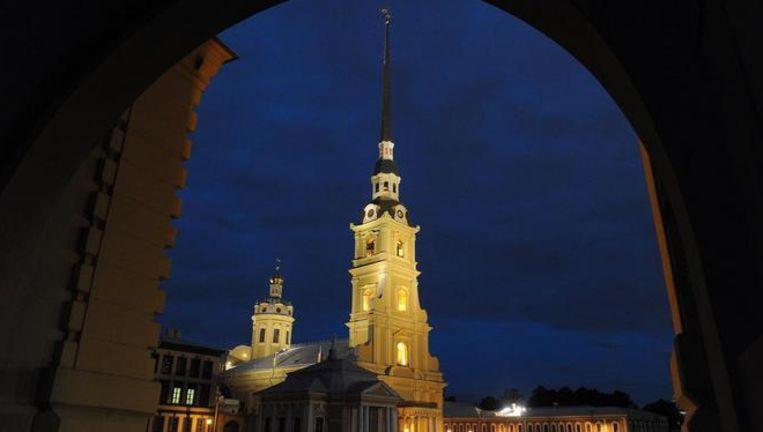 De Petrus- en Pauluskathedraal in Sint-Petersburg Beeld AFP