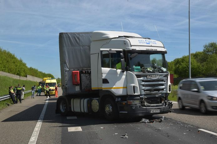 ongeval A58 in Ulvenhout