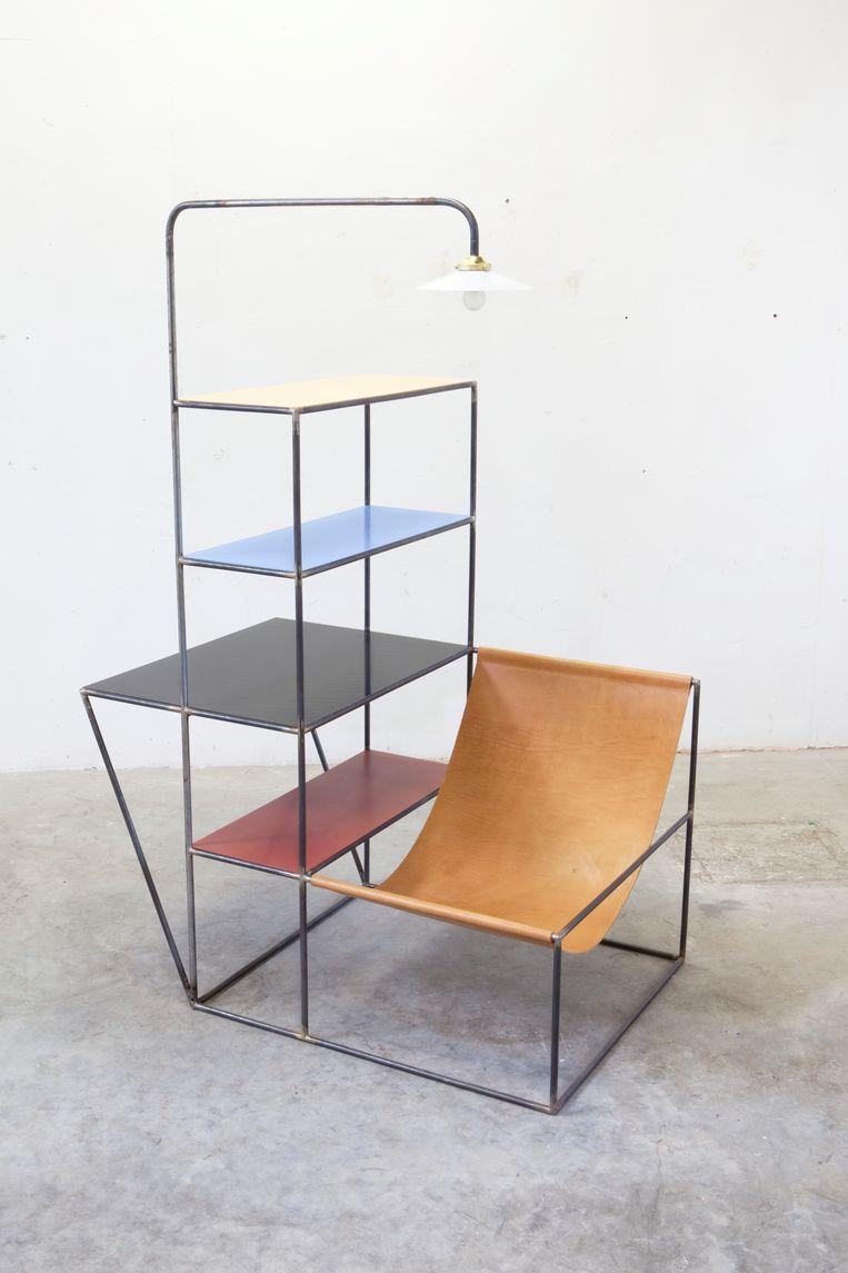 Vintage Muller Van Severen: het Installation S-meubel. Beeld rv