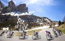 Het peloton in actie in de 14de rit van de Giro.