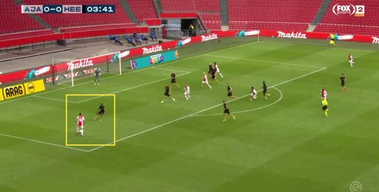 Tadic in Ajax-Heerenveen. Beeld Screenshot