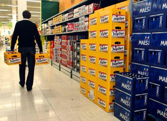 Les prix de la bière ont fortement augmenté durant l'année écoulée dans les supermarchés.