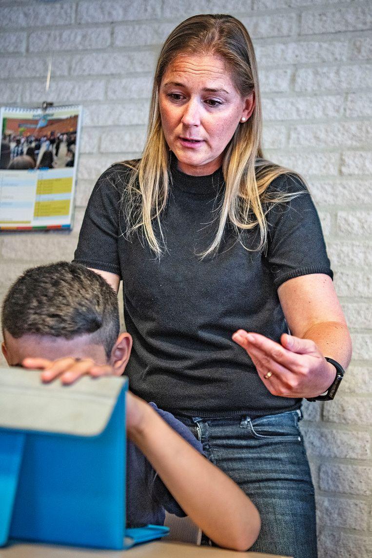 Bijles op basisschool Onze Wereld in Den Haag.  Beeld