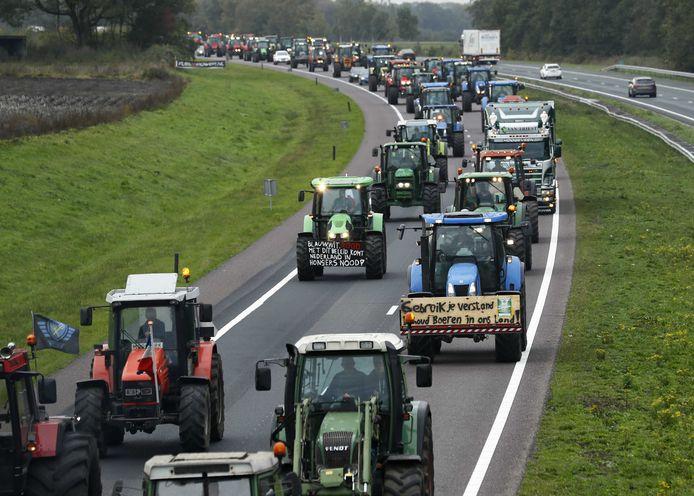 Een beeld van boerenprotest bij onze Noorderburen in 2019