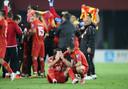 Goran Pandev kan zijn tranen niet bedwingen.