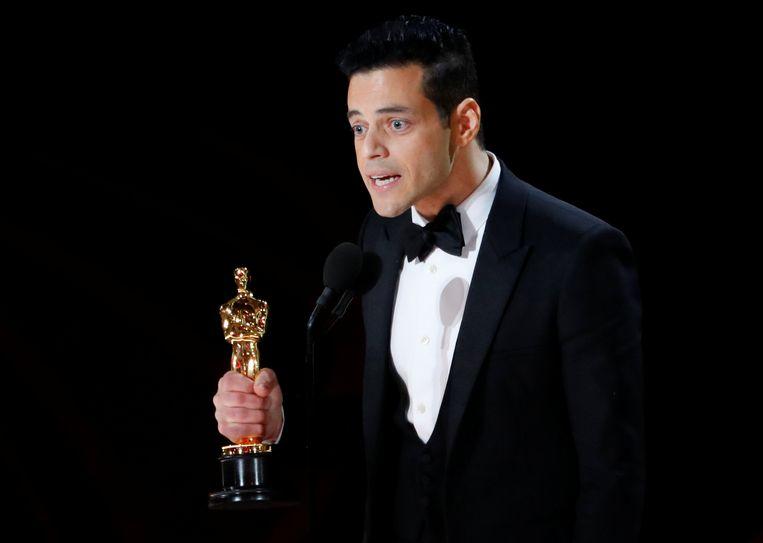 Rami Malek won de prijs voor beste acteur, voor zijn rol als Freddie Mercury in 'Bohemian Rhapsody'. Beeld REUTERS