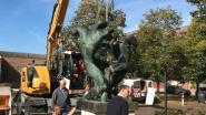 Kunstwerk 'Duel' verfraait grasplein tussen stadhuis en De Werft