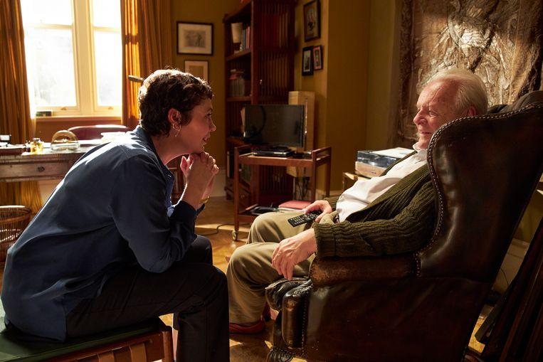 Olivia Colman en Anthony Hopkins, beiden genomineerd, in The Father. Beeld