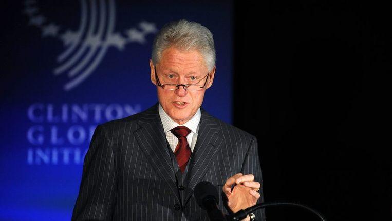 Bill Clinton tijdens een conferentie in New York Beeld reuters