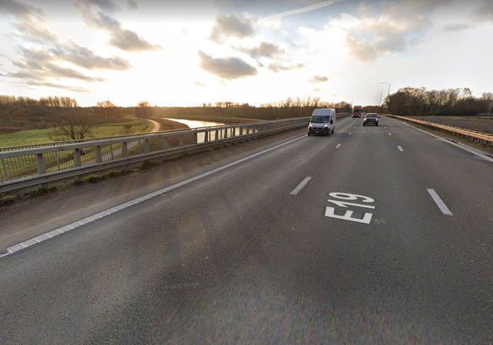 De autostradebrug in Rumst