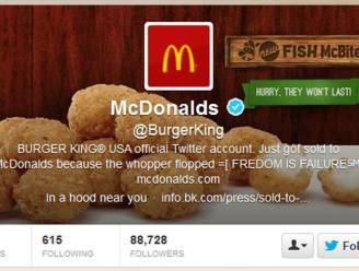 Hackers veranderen Twitter-account Burger King in @McDonald's