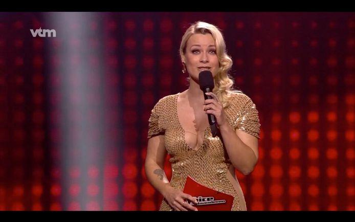 Het kleedje van An Lemmens was hot topic tijdens de finale van 'The Voice van Vlaanderen'.