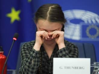 Greta Thunberg in tranen in Europees Parlement
