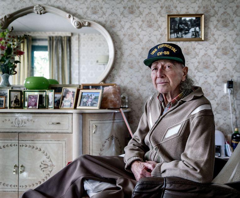 Henk Kreel vluchtte weg bij de Duitse transporttroepen. Beeld Jean-Pierre Jans
