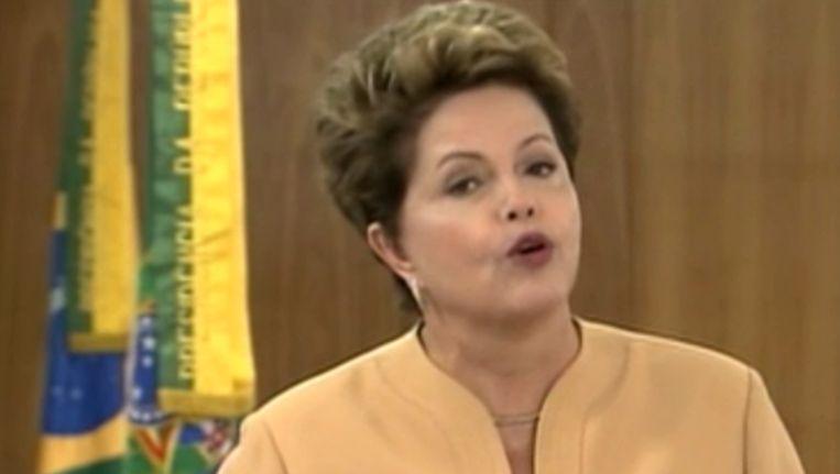 President Dilma Roussef Beeld AFP
