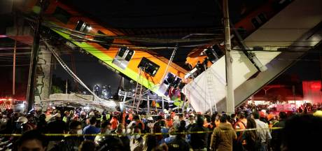 Metroviaduct Mexico-Stad stort in: zeker 23 doden