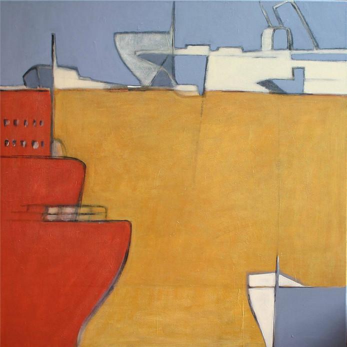 Jorien Brugmans Stroom 1, acryl op doek      90 x 90 cm