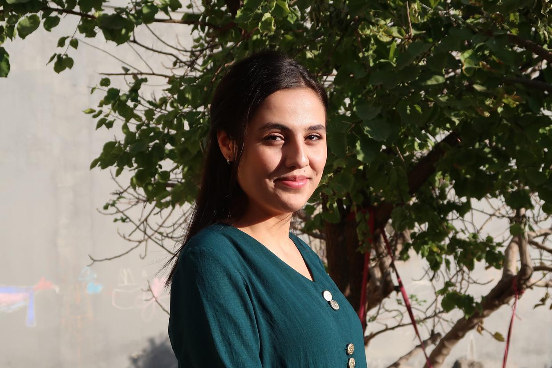 De 18-jarige Wadha zat in gevangenschap bij een Belgische jihadist. Beeld Brenda Stoter