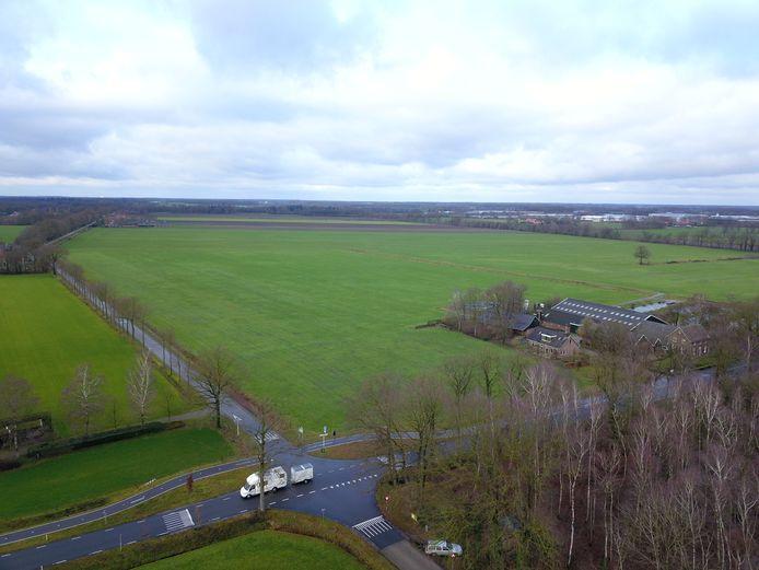 Op deze plek aan de Masterveldweg in Winterswijk moeten 250.000 zonnepanelen komen. Daarmee wordt dit het grootste zonnepark van Gelderland.