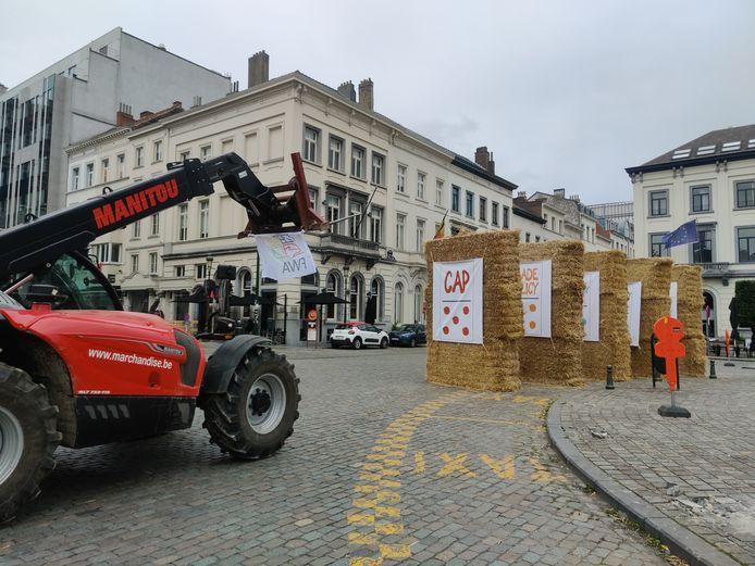 Protest van boeren tegen het Europees landbouwbeleid.