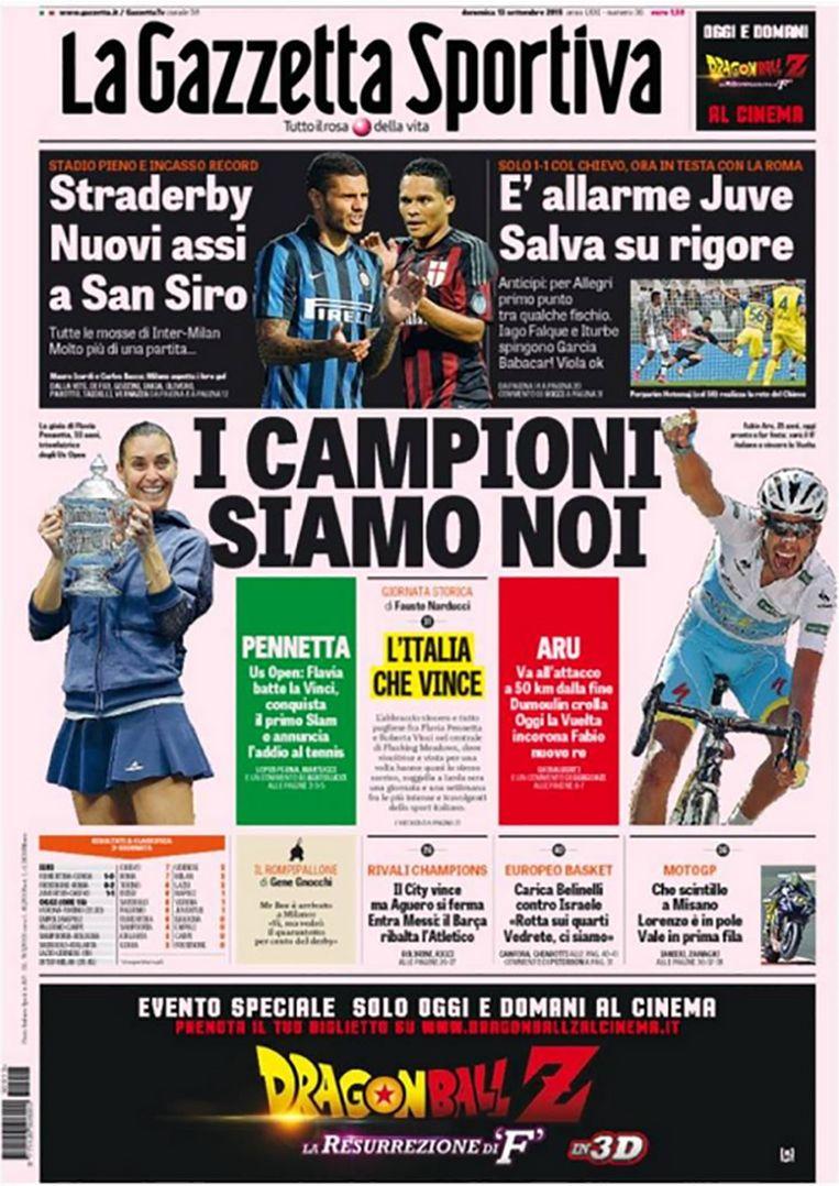 null Beeld Gazzetta dello Sport