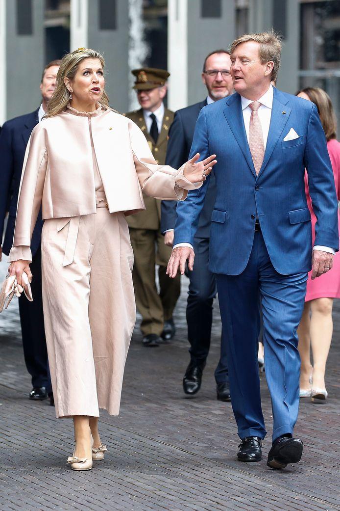 Máxima met Willem-Alexander op staatsbezoek in Belval in Luxemburg.
