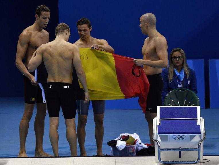 Het Belgisch record op de 4x100m vrij dateert van Rio 2016, toen nog met de intussen gestopte Glenn Surgeloose en Emmanuel  Vanluchene in het team.